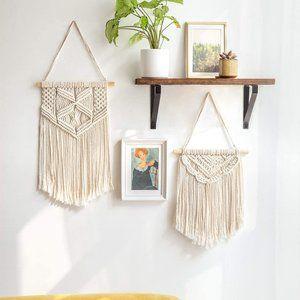 Two Macrame Wall Hangings